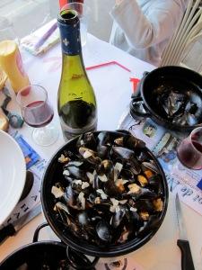 Mussels at Le Retro, St Martin de Bréhal