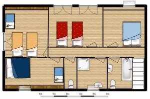 Upstairs Floor Plan, Maison Mielles