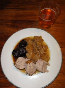 Pork and Apple with a Fig Sauce