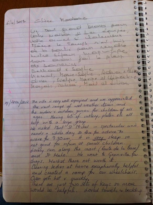 Guest Book Maison Mielles Page 12