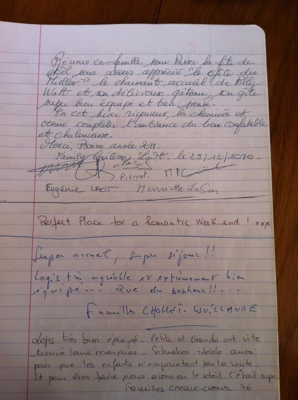 Guest Book Maison Mielles Page 1