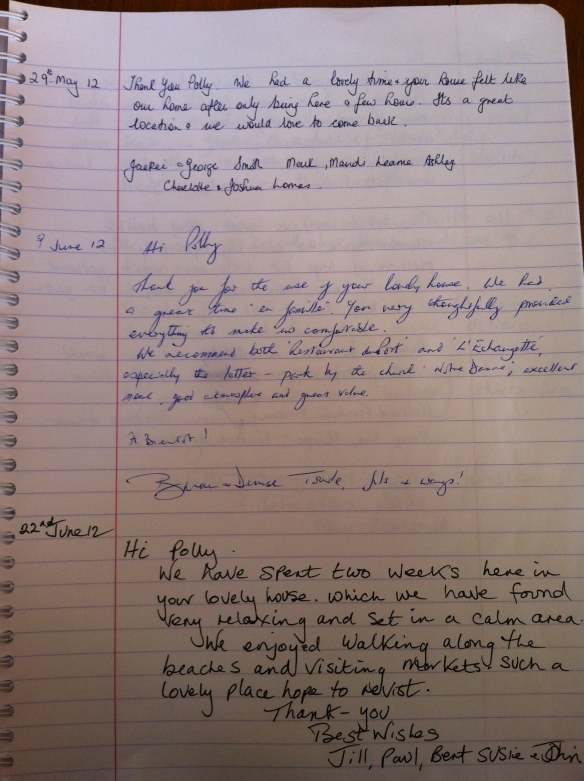 Guest Book Maison Mielles Page 15