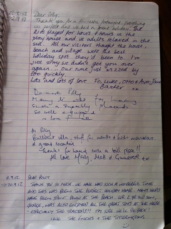 Guest Book Maison Mielles Page 19